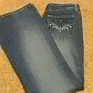 Angels bejeweled jeans juniors size 16 1/2